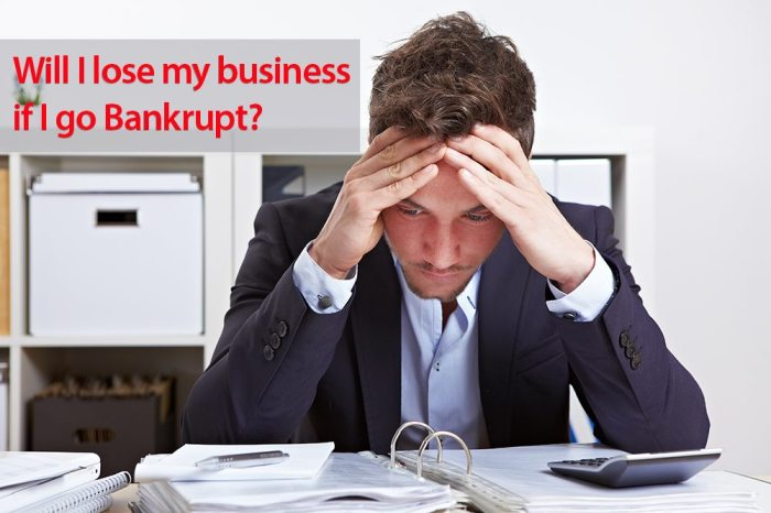 Going Bankrupt in Australia - Will I lose my business if I go bankrupt